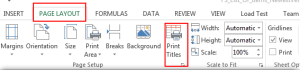Print Repeat Title in Excel File 1