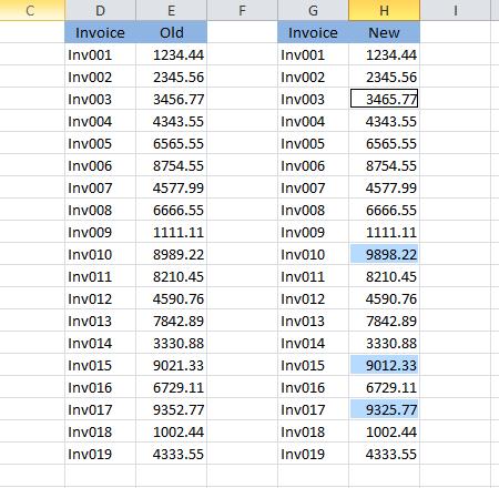 compare two columns 2